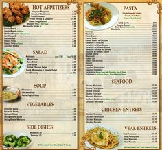 restaurant menu design - Google Search