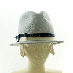 New York FEDORA HAT for Women - Light Blue Panama Straw Hat