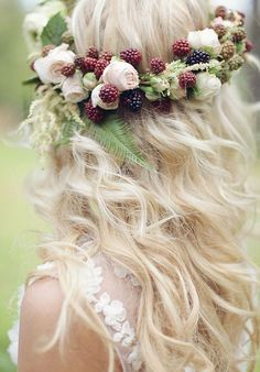 berry and flower floral crown