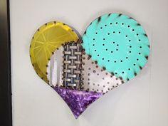 Abstract Metal Heart Wall Art