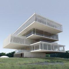 Biotechnological Park Building by Tatiana Bilbao