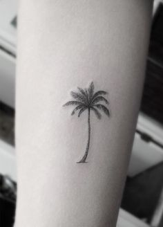 Palm tree tattoo - This is the one that I want but instead of palm tree I want it to be a symbol of Texas