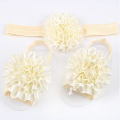 Baby Flower Headband & Barefoot Sandals