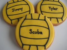 May not be a cake but they're Water Polo Cookies!