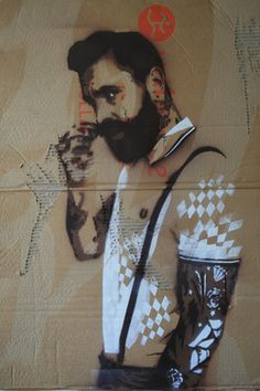 "Saatchi Online Artist Natasja Snoeijer; Street Art, ""Mr.Jones"" #art"