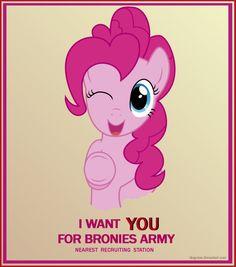 Pinkie Pie the Brony Recruiter by ~DiegoTan on deviantART