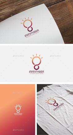 Infinity Idea  Logo Design Template Vector #logotype Download it here: http://graphicriver.net/item/infinity-idea-logo/12608413?s_rank=568?ref=nexion