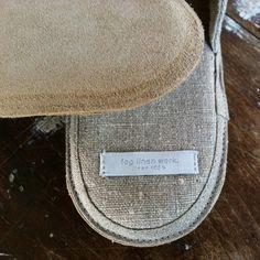 Linen Slippers: Natural