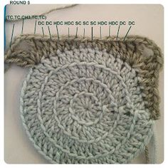 """Three Beans in a Pod: Retro how to """"fill"""" granny squares with a central Circle - The Tutorial"""