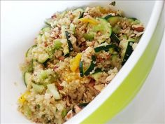 Quinoa Salad with Toasted Almonds and Zucchini Whole Food Mommies | Cooking Blog | Whole Food Recipes