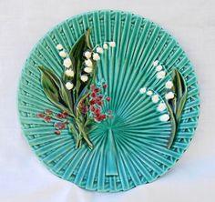 Majolica Plates | Vintage Majolica Art Pottery Desert Set German from jothomas-ots on ...