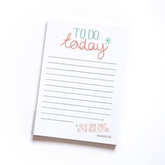 Notepad To do list funny to do list notepads jotter by SiouxAlice