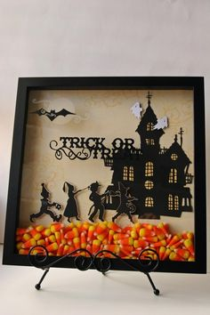Love this!!! Buy little stickers at Michaels add candy corn, place in frame.