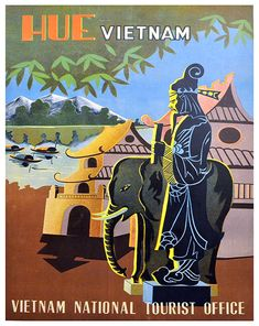 Vietnam Art Sign Wall Decor Travel Poster Print by Blivingstons