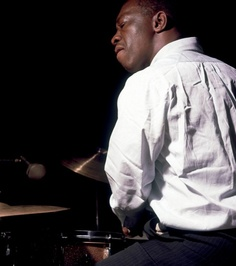 Art Blakey photographed by Francis Wolff.