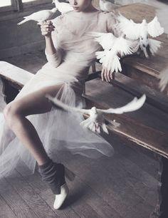 """pivoslyakova:  """"White Mischief"""" by David Bellemere for Porter # 5, Winter 2014."""