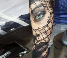 Face tattoo by Chris Showstoppr