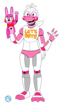 Funtime Chica (Non-canon/AU Version) by FNAFNations
