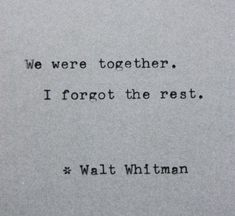 Typewriter Quote - Walt Whitman