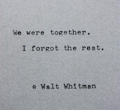 Typewriter Quote - Walt Whitman