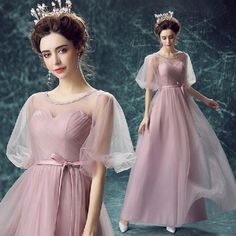 Pink Half sleeve sweet-heart Lace-up Back Company party DressPeacock Dress,Oh just take a look at this!Visit our store