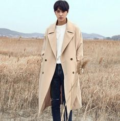 Spring autumn 2017 new designer loose trench coats mens long coat men clothes slim fit overcoat man long sleeve fashion khaki