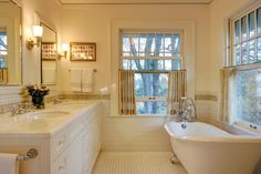 Pretty, classic bathroom design in ivory. From 1 of 11 projects by Knowles PS, discovered on search.porch.com