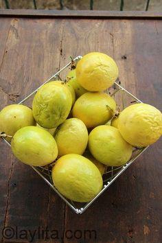 Maracuyas amarillas en Ecuador