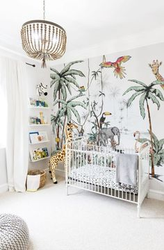 Outstanding Kids Jungle Room Design Ideas To Creative Explorer Boys Jungle Bedroom, Jungle Baby Room, Safari Bedroom, Safari Nursery, Baby Bedroom, Baby Boy Rooms, Baby Room Decor, Kids Bedroom, Room Boys