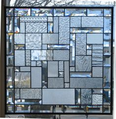 Clear Textures Geometric Abstract Beveled Original by Stained Glass Heirlooms Specifications of window This window is full of upper end art glass Clear glass textures used will be randomly picked Stained Glass Cabinets, Stained Glass Door, Stained Glass Designs, Stained Glass Panels, Stained Glass Projects, Stained Glass Patterns, Glass Wall Art, Window Glass, Leaded Glass Windows