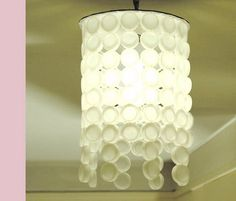 a light made from beer bottle caps :)