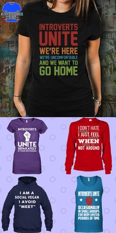 Introverts unite we're here we're uncomfortable and we want to go home.