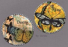 De Stempelwinkel - Designteam : My Plate of the Month Atc Cards, Card Tags, Fusion Art, Simply Stamps, My Plate, Pocket Letters, Small Art, Butterfly Cards, Artist Trading Cards