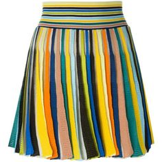 Missoni Pleated Knit Skirt ($635) ❤ liked on Polyvore featuring skirts, multicolour, missoni skirt, multi color skirt, multicolor skirt, missoni and knit skirt