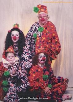 "What are you up to, Grandma? ""Just clownin' around."" Source: AwkwardFamilyPhotos.com"
