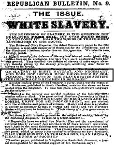 The Forgotten Cause Of The Civil War. White Slavery.
