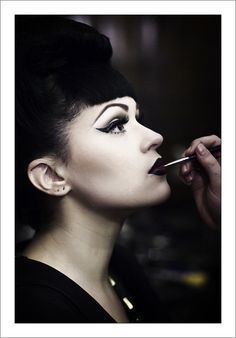 Black & White PinUp MakeUp.. i love the dark and edgy look of this, pinup has always been my inspiration and i'm self taught, it's clearly not a look for everyone but no need to be hateful, everyones different, you don't have to like it.. but i sure do love it and wont ever change my style.