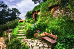 """Bag End - Hobbiton in matamata, new zealand.  Just came back from a family trip in new zealand :) I spent most of my time relaxing with family so didn't get much time for photos. This is one of the few shots of hobbiton that I really liked. The place was just amazing with great food, beer, and very fun tour. I felt like I was back in middle school reading fellowship of the ring.    For Prints:  <a href=""""http://fineartamerica.com/featured/bag-end-insung-choi.html"""">Fine Arts America</a> For…"""
