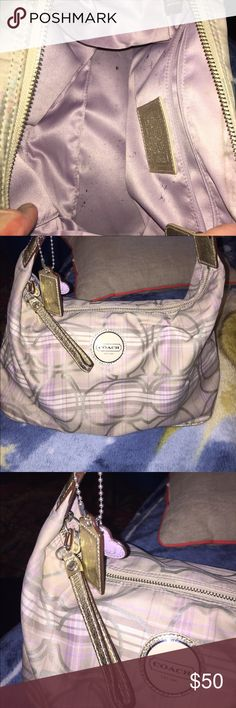 Coach purse Coach purse used but in good condition just needs a good cleaning. Been packed away for a long time Coach Bags Shoulder Bags