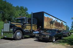 Kenworth Art Print featuring the photograph Smokey And The Bandit Tribute 1973 Kenworth Semi Truck And The Bandit by Tim McCullough F150 Truck, Kenworth Trucks, Ford Trucks, Diesel Trucks, Pickup Trucks, Big Rig Trucks, Semi Trucks, Smokey And The Bandit, Thing 1