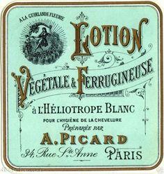 French Cosmetic Label antique Tote Bag by Lunagirl - CafePress Vintage Wine, Vintage Labels, Vintage Ephemera, Vintage Ads, Vintage Images, Vintage Prints, Vintage Posters, Paris Perfume, Cosmetic Labels