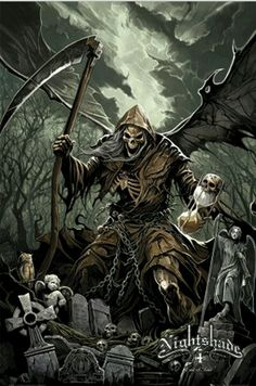 Grim Reaper tattoo for cousin