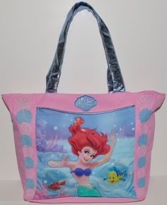 PRINCESS ARIEL THE LITTLE MERMAID TOTE /PURSE/HANDBAG dance bag overnight bag on Wanelo