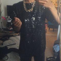 For sale $10 Vintage Black Sequin Top. Closet sale  . Fashion Blogger blogshop