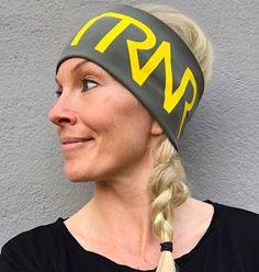 Military green & Yellow headband / pannebånd / panneband / pannband