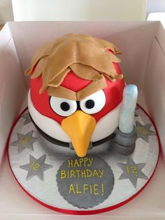 great angry birds Star Wars cake..... Going to make for Andrew's Birthday!!