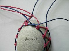 macrame stone | 10. When the wrapping is long enough, ( it should be shorter that ...