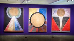 Hilma af Klint: Altarpieces, Group X, No. 2 & No. 3 Altarpiece, × cm, Oil and metal leaf on canvas. Abstract Painters, Abstract Art, Modern Art Pictures, Louisiana Museum, Hilma Af Klint, 5 Elements, Old Keys, Pastel Drawing, Museum Of Modern Art