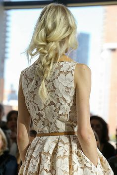 Michael Kors Spring 2015. Love the dress, but the braid is freaking perfection.