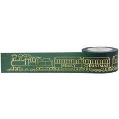 Santa Belt GOLD FOIL TAPE - Little B Christmas Tape - Christmas Washi Tape - Christmas Gold Foil Tape - Santa Tape -25 mm Foil Tape by OneDayLongAgo on Etsy